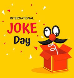 International joke day background or graphic vector