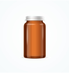 Medical Glass Brown Bottle vector image