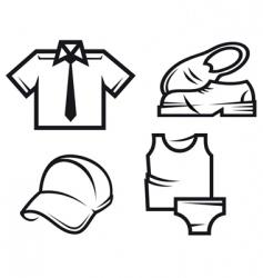 men's fashion vector image