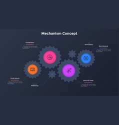 Modern infographic banner vector