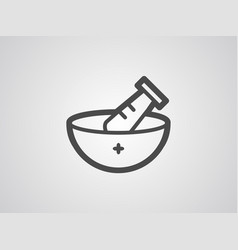 mortar icon sign symbol vector image