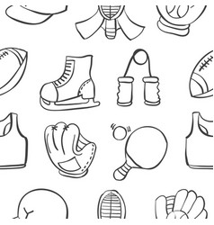 Object sport equipment doodles vector
