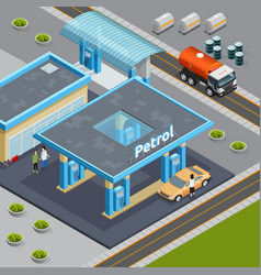 oil isometric composition vector image