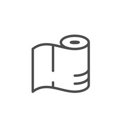 paper towels line icon vector image
