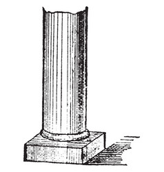 Pillars monument vintage engraving vector