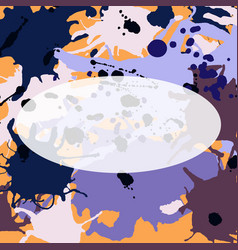 Purple lilac orange brown ink splashes ellipse vector