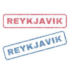 Reykjavik textile stamps vector
