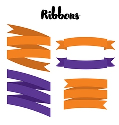 Round ribbons vector
