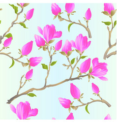 seamless texture stem chinese magnolia blooming vector image