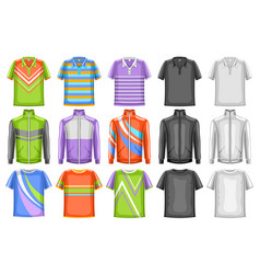 set sport clothes vector image