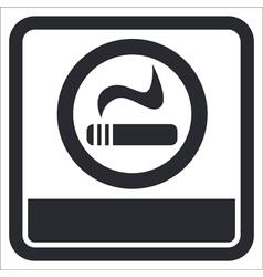 Smokers area icon vector