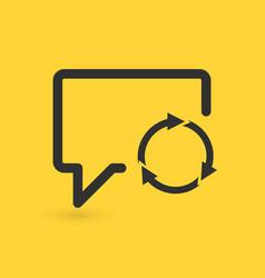 speech bubble refresh icon three circle arrows vector image
