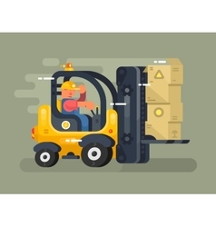 Storekeeper loader flat design vector