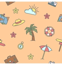 summer time sea vacation seamless pattern vector image