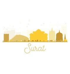 Surat City skyline golden silhouette vector image vector image
