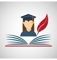 university grad icon vector image