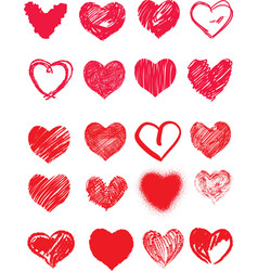 valentines day harts vector image