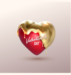 Valentines day realistic 3d heart vector
