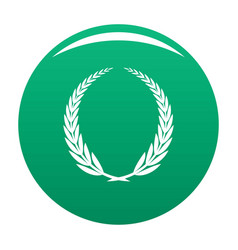 victory icon green vector image