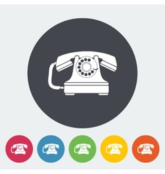 Vintage phone icon vector image