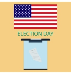 Voting day vector image