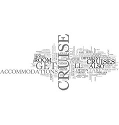 what to expect on a cruise text word cloud concept vector image