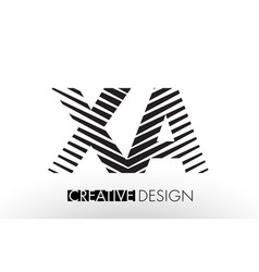Xa x a lines letter design with creative elegant vector