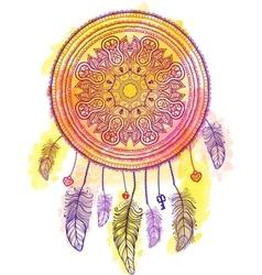 American Indian talisman dreamcatcher vector image vector image