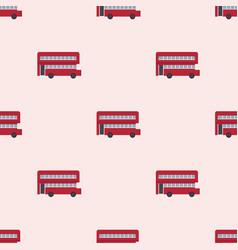 Euro trip tourism travel design double decker bus vector