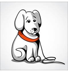 Lost sad dog vector image
