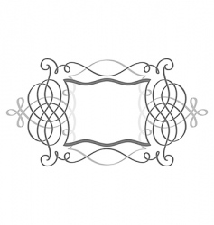 shield frame vector image vector image