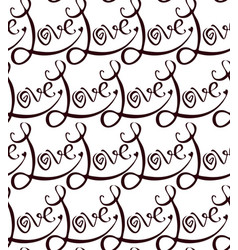 abstract seamless pattern from calligraphic vector image