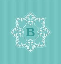 Decorative monogram background vector image vector image