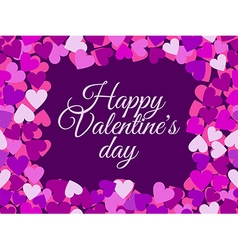 Happy Valentines Day seamless pattern with hearts vector image vector image