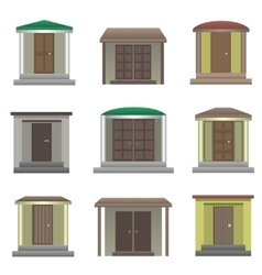 House doors vector image