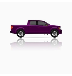 Off-road car on white background Image of a brown vector image