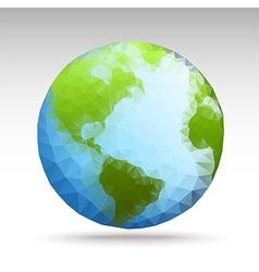 polygonWorld02 vector image vector image