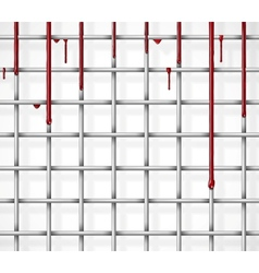 Cage with blood vector image