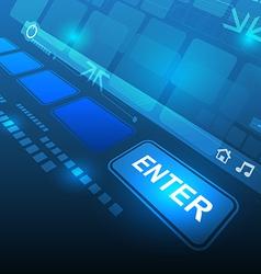 enter button technology concept vector image