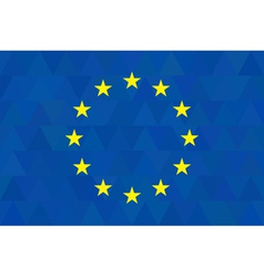 European union flag on unusual blue triangles vector image vector image
