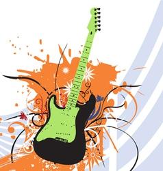 grunge guitar vector image vector image