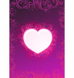 illustration of floral heart vector image