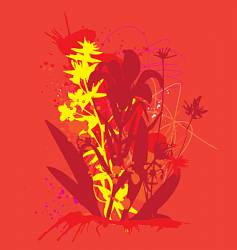 ink and flowers vector image vector image