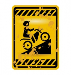 motor bike trail sign vector image vector image