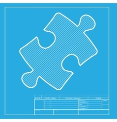 Puzzle piece sign White section of icon on vector image vector image