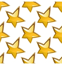 Seamless background pattern of glossy gold stars vector