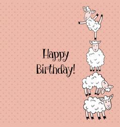 sheep birthday vector image vector image