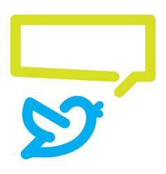 Bird tweets icon vector image vector image