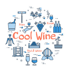 blue round cool wine concept vector image vector image