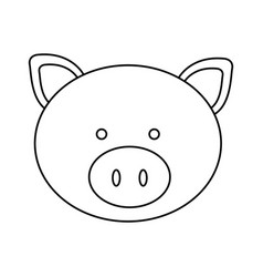 figure face pig icon vector image